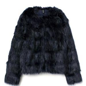 New H&M short faux fur jacket